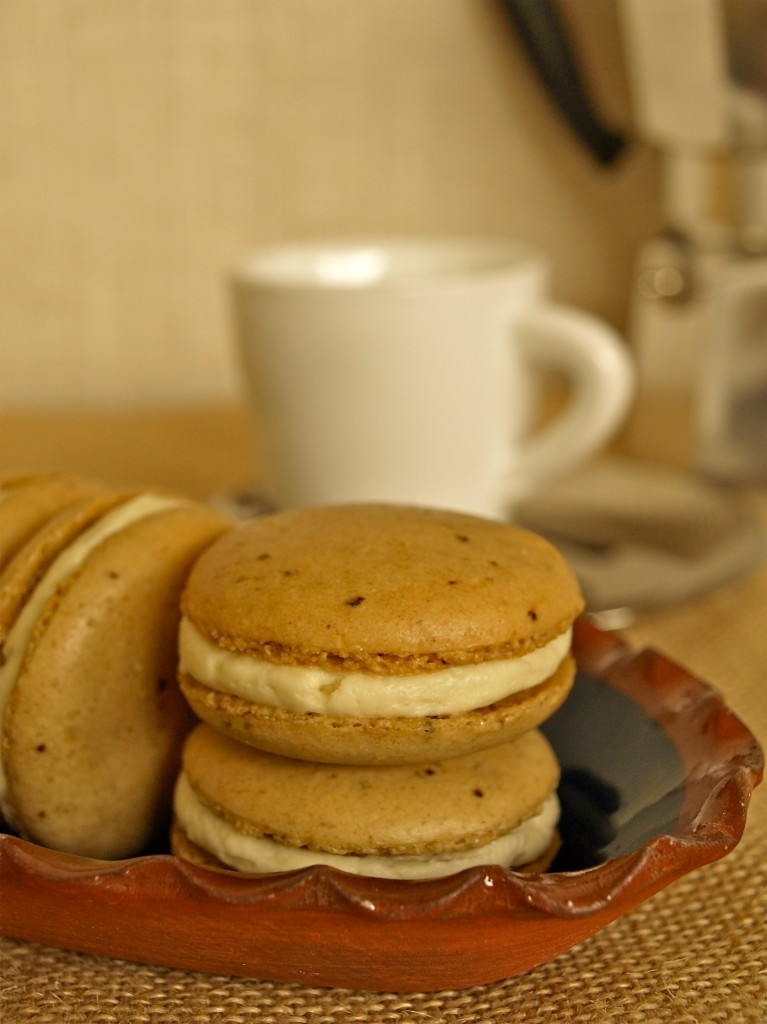 coffee macarons whiskey buttercream