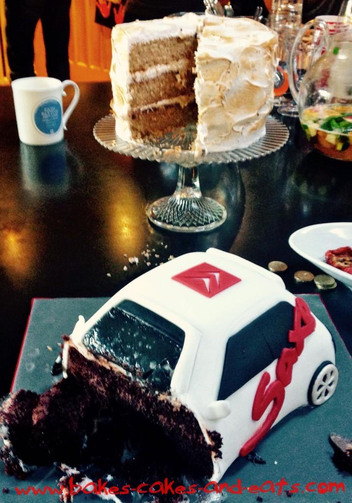 Smores Cake and Citroen Saxo Cake BCAE