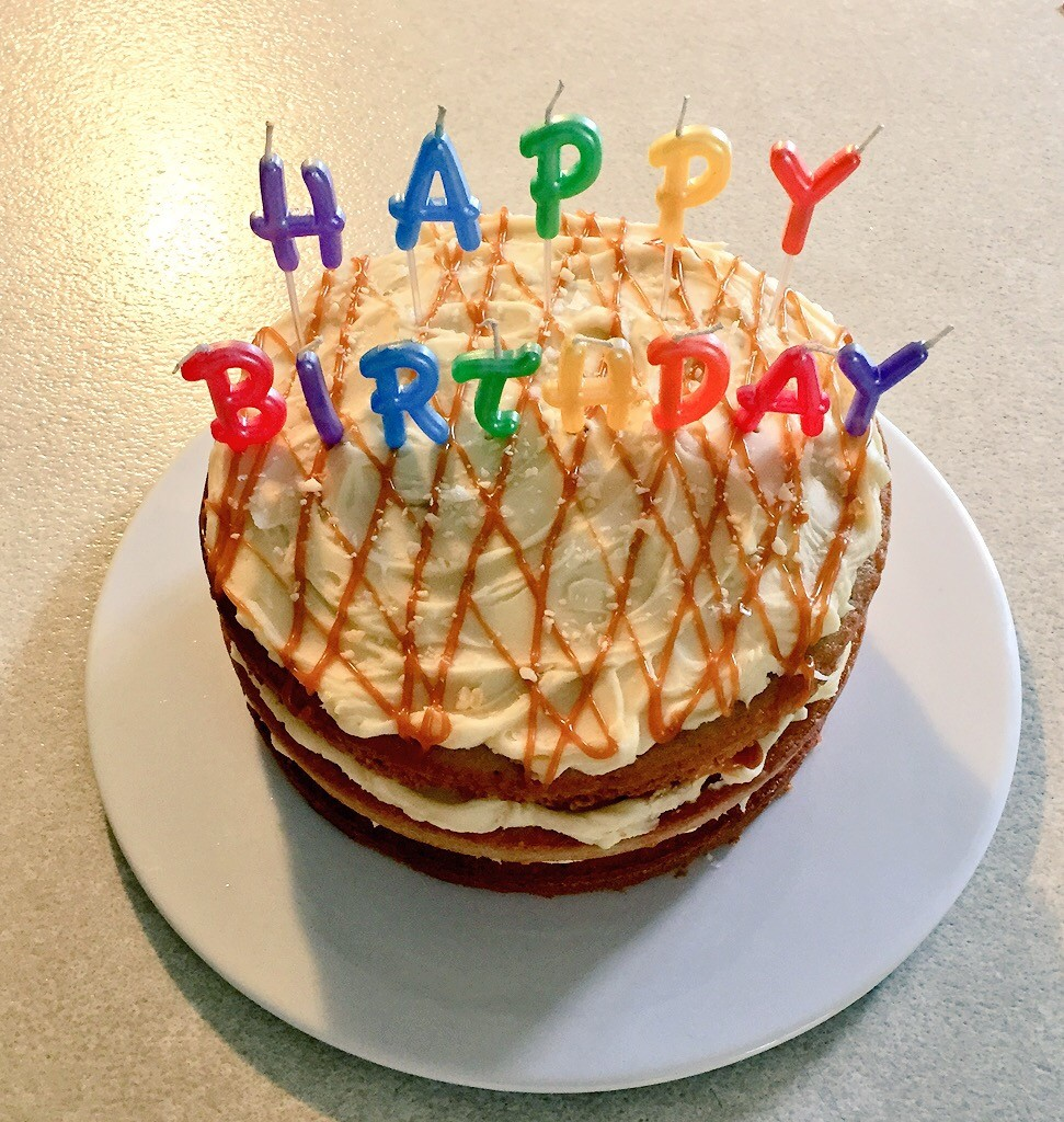 Salted Caramel Birthday Cake